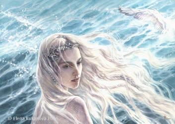 The Swan-Maiden of Alqualonde by EKukanova
