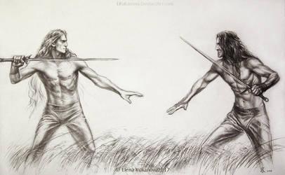 Friendly fight by EKukanova
