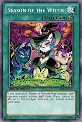 Season of the Witch (MLP): Yu-Gi-Oh! Card by PopPixieRex