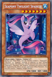 Seapony Twilight Sparkle (MLP): Yu-Gi-Oh! Card by PopPixieRex