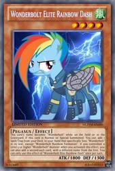 Wonderbolt Elite Rainbow Dash (MLP) Yu-Gi-Oh! Card by PopPixieRex