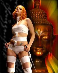 Sci-fi Buddha by AmaraVonNacht