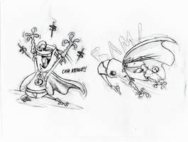 Professor Scam sketches by Brah-J