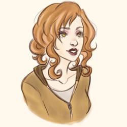 warmup sketch - Edythe Cullen by harleing