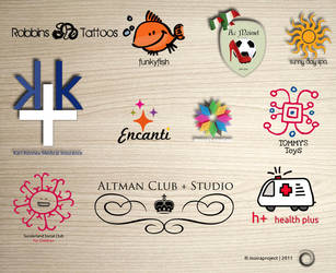 my last 11 logos by moiraworx