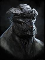 Horned Ape by BenMauro