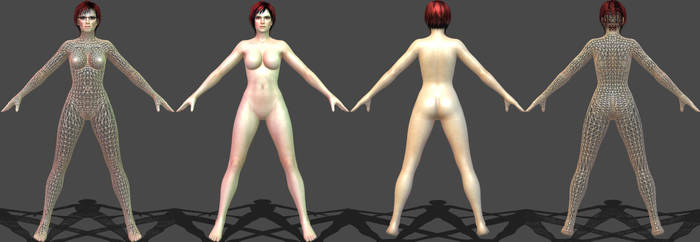 DOA5 Mila Barbie Doll Edition WIP by darkblueking