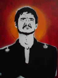 Oberyn Martell Stencil Painting by Blackitt