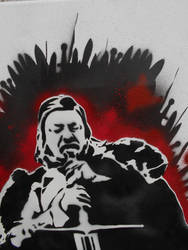 Eddard Ned Stark Stencil Painting by Blackitt