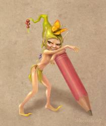 Pencil Pixie by skratek