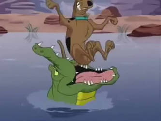 Scooby Doo Ate By Crocodile by Madarao123