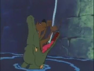 Scooby Doo Climbing Down Into Crocodile by Madarao123
