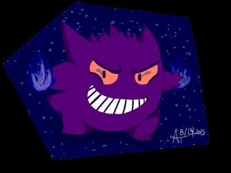 GENGAR used WIL-O-WISP by pokemonfan-artist