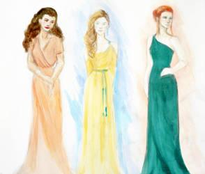 Yule Ball Dresses by aqvarelles