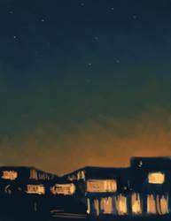 Sunset speedpaint by aqvarelles