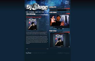 DJ Slugo website by thiscatharticnail