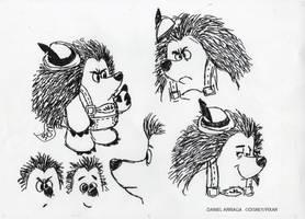 Mr. Pricklepants concept designs by danielarriaga