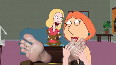 Lois Lickle Beths Feet  by Ticklingfakes