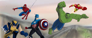 Marvel Super heroes by imapuniverse