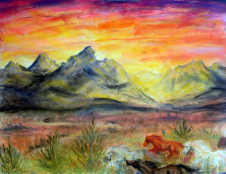 Flame on the Mountains, Thunder on the Plains by MistressShira