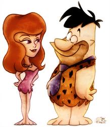 Fred Flintstone + Ann Margrock by Georgia-O-Queef