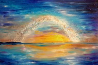 The Milky Way at Sunrise by NikoletaPopova
