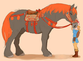 Giant Horse by Velloria