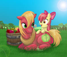 Sweet Apple Siblings by DawnMistPony