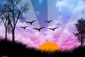Vector Sunset by bleh-bleh-bleh