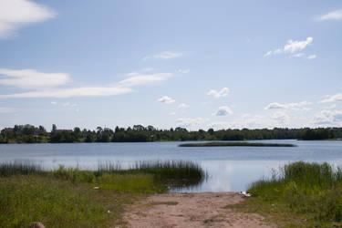 Island in the lake stock #1 by croicroga