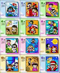 [GB/C] Crazy Richman 1 Calendar Sprite by leeseongjae620