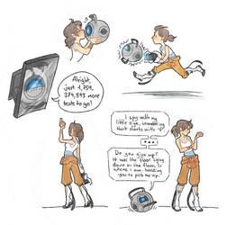 Portal doodles by SnuffyMcSnuff
