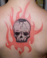 Flaming Skull by x-Butterfly-Away-x