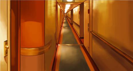 Cruise Ship Corridor by SSJSophia
