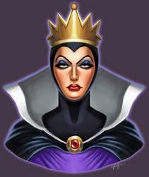 Evil Queen Bust by SSJSophia