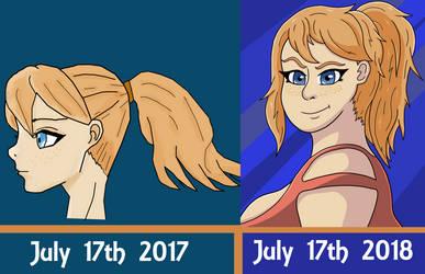 Tori avatar Redraw - 2017 to 2018 by WesKripsy