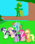 Mane 6 watch Jungle Heart's Tarzan Yell by Athooor33