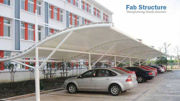 Car Parking Tensile Structure by keralafab