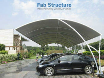 Tensile Car Parking Structure in Kerala by keralafab
