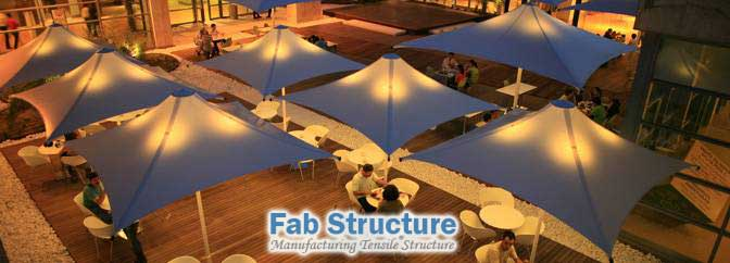 Tensile Structure for Restaurant by keralafab