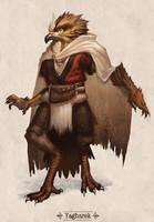 Yagharek, the Garuda by Justinoaksford