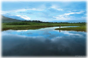 Sky after rain with fisherman. by OshimaruKung7285
