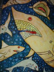 Cyber Sharks by Davidkessel