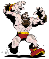 SSF2T Zangief by MichaelMayne
