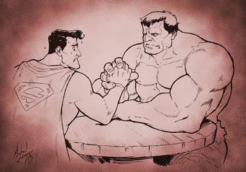 Supes vs. Hulk by MichaelMayne