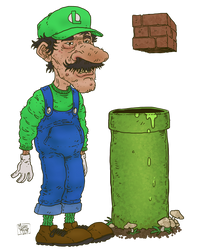 Luigi Grotesque by MichaelMayne