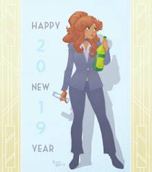 Happy New Year 2019 from Bonnie by MichaelMayne