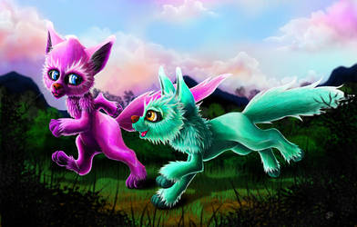 Kimi and Kanti of Lingley Hollow by The-Dreaming-Dragon