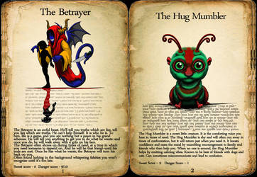 The Book of Lurking Lings: Pages one and two... by The-Dreaming-Dragon