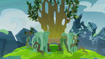 MLP background:Changeling throne by Thurder2020